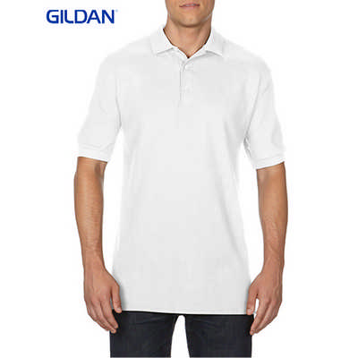 Gildan Premium Cotton Adult Double Pique Sport Shirt White 82800_WHITE_GILD